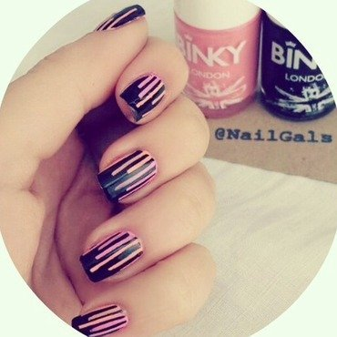 Funky tape mani nail art by NailGals