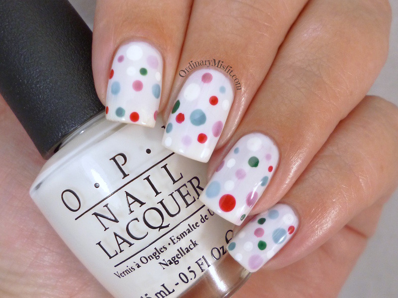 Christmas pond dotticure nail art by Michelle
