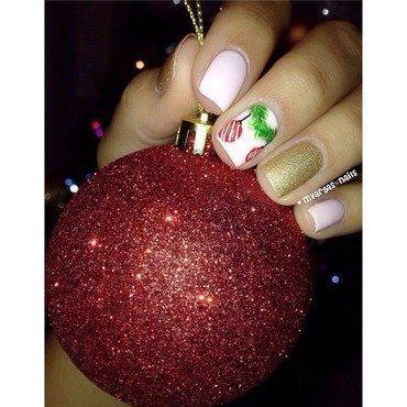 Christmas ornament  nail art by Massiel Pena