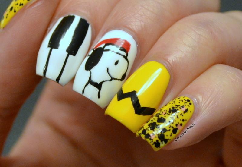 Snoopy and Peanuts Holiday Themed Nails nail art by Jayne