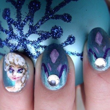 The Cold Never Bothered Me Anyway  nail art by Toria Mason