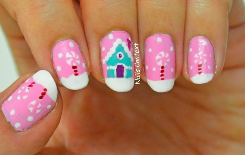 Winter Wonderland nail art by NailsContext