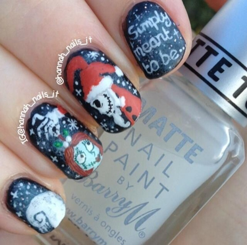 Jack And Sally Nail Art By Hannah Nailpolis Museum Of Nail Art