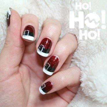 Santa Suits nail art by Polishisthenewblack