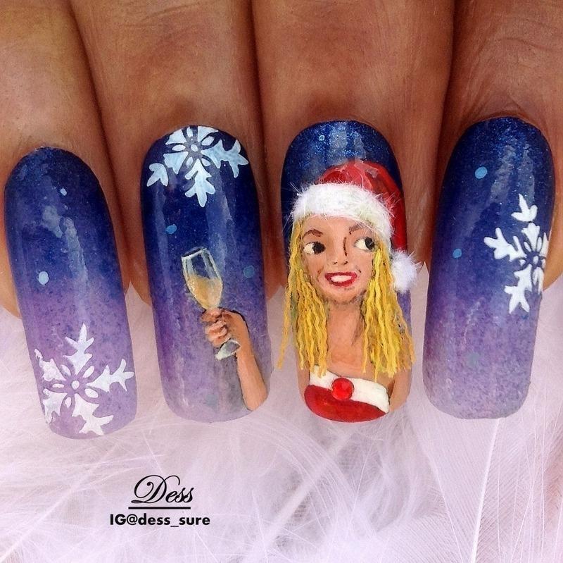 Sexy Santa nail art by Dess_sure