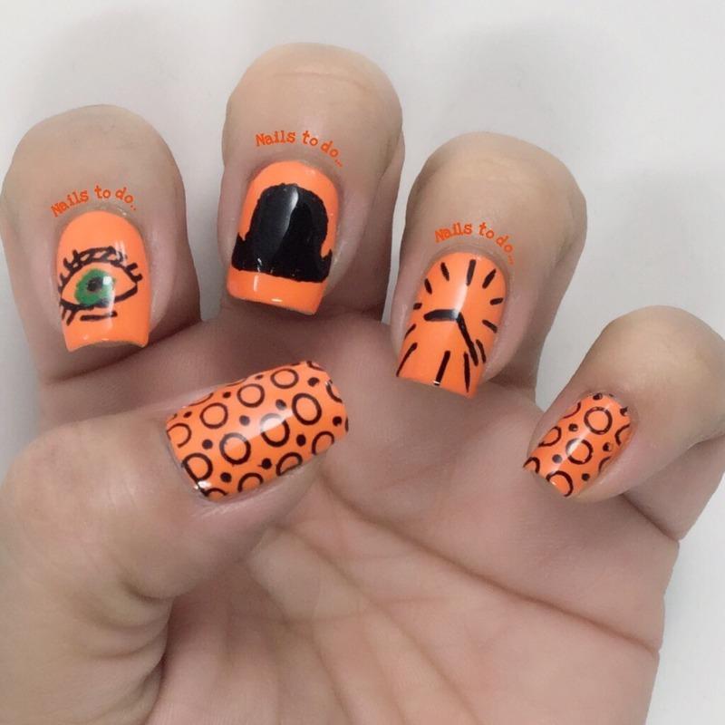 Clockwork orange nail art by Jenny Hernandez
