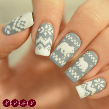 Warm Wishes nail art by Becca (nyanails)