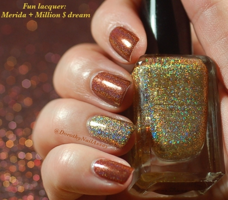 Accent nail FUN lacquer nail art by Dorothy NailAssay