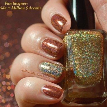 Accent nail FUN lacquer nail art by Dorothy NailAssay
