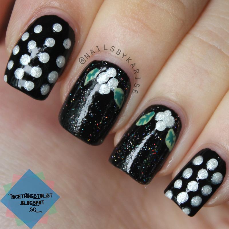 Under The Mistletoe Nail Art By Karise Tan Nailpolis Museum Of