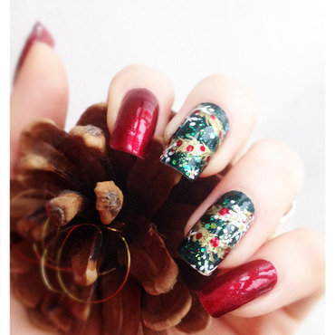Christmas nail art by Bazavan Diana