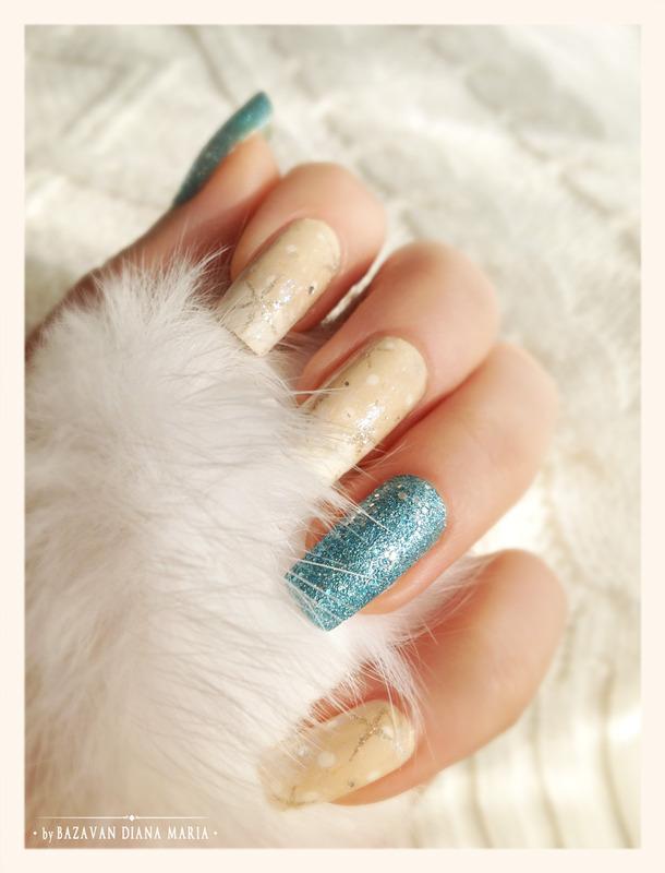 Snowing nail art by Bazavan Diana
