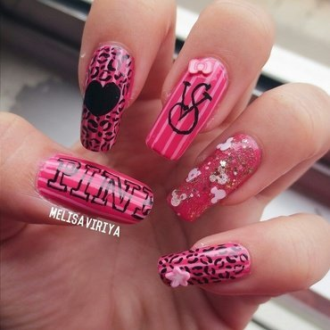 VICTORIA SECRET nail art by melisa viriya