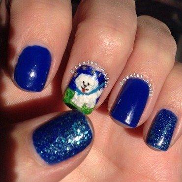 Bichon nails nail art by Sarah Bellwood