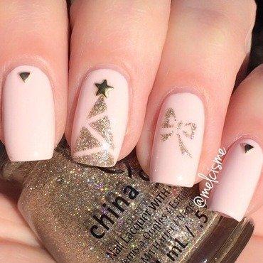 Pinkmas nail art by Melissa