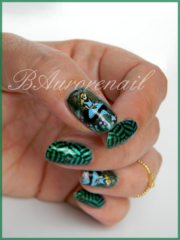 Alice nail art by BAurorenail