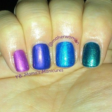 Julep Katie, Julep Avni, Julep India, and Julep Waleska Swatch by Mama's Manicures (maherwoman)