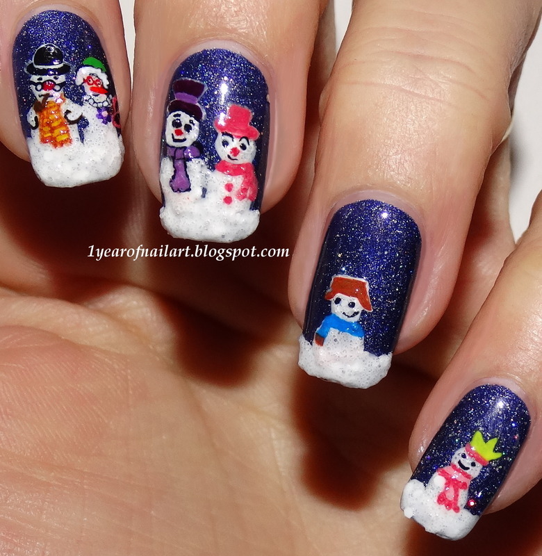 Meet the family :D nail art by Margriet Sijperda