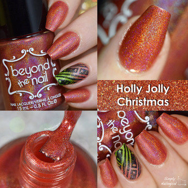 Beyond The Nail Holly Jolly Christmas Swatch by simplynailogical