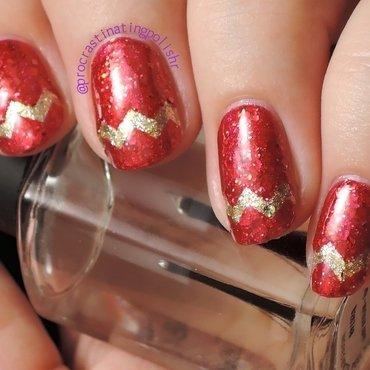 Holiday Chevrons nail art by Jae Harrison