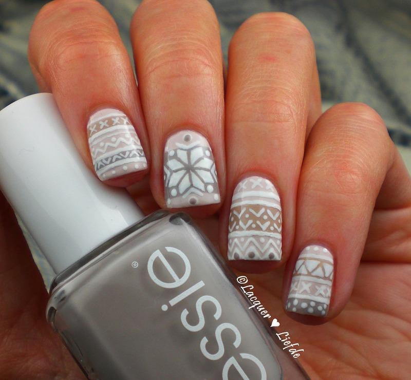 Skandinavian Style nail art by Anna