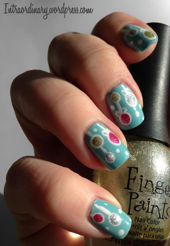 Ornament Nails nail art by Katie