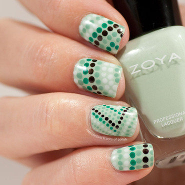 Pointillism dotticure nail art by Zara TracesOfPolish
