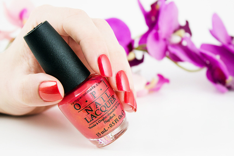 OPI Go with the Lava Flow Swatch by Temperani Nails