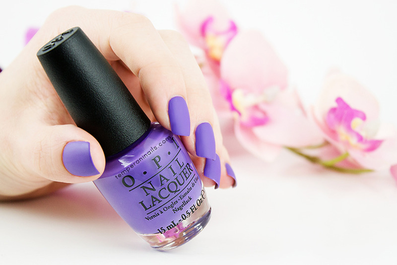 OPI Matte top coat and OPI Lost My Bikini in Molokini Swatch by Temperani Nails