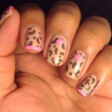 Fun leopard print nail art by anas_manis