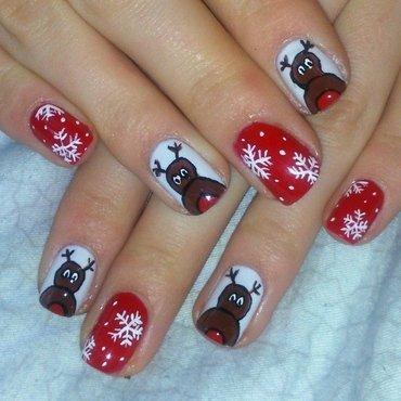 Marry Christmas ;) nail art by Lakierowniczka