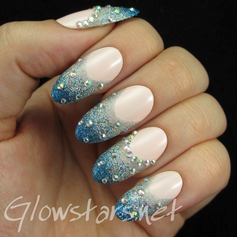 Glitter French manicure nail art by Vic 'Glowstars' Pires