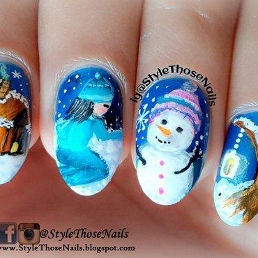 Snowman Nailart nail art by Anita Style Those Nails