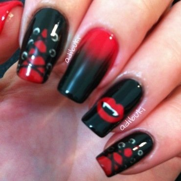 Sexy Vampire Nails nail art by Adi Buki