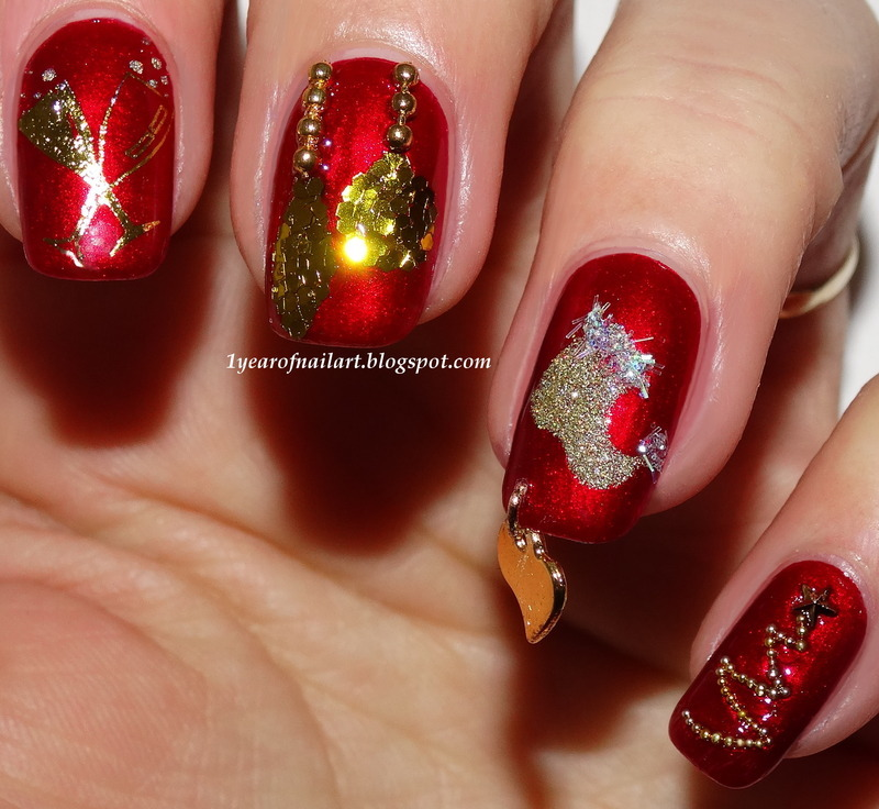 Christmas!!!! nail art by Margriet Sijperda