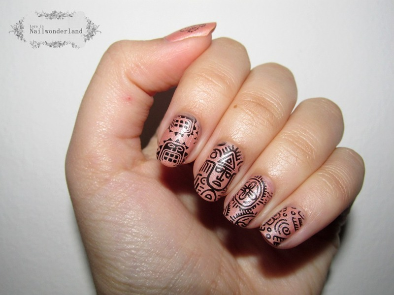 Mexican Hat Dance nail art by Lora