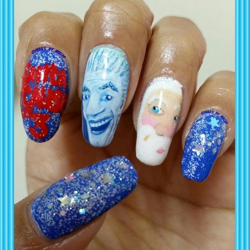 The Santa Clause 3 nail art by Milly Palma
