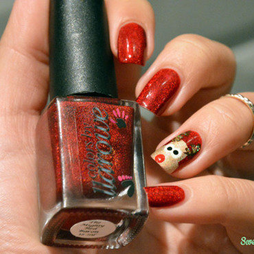 Rudolphe for christmas  nail art by Sweapee