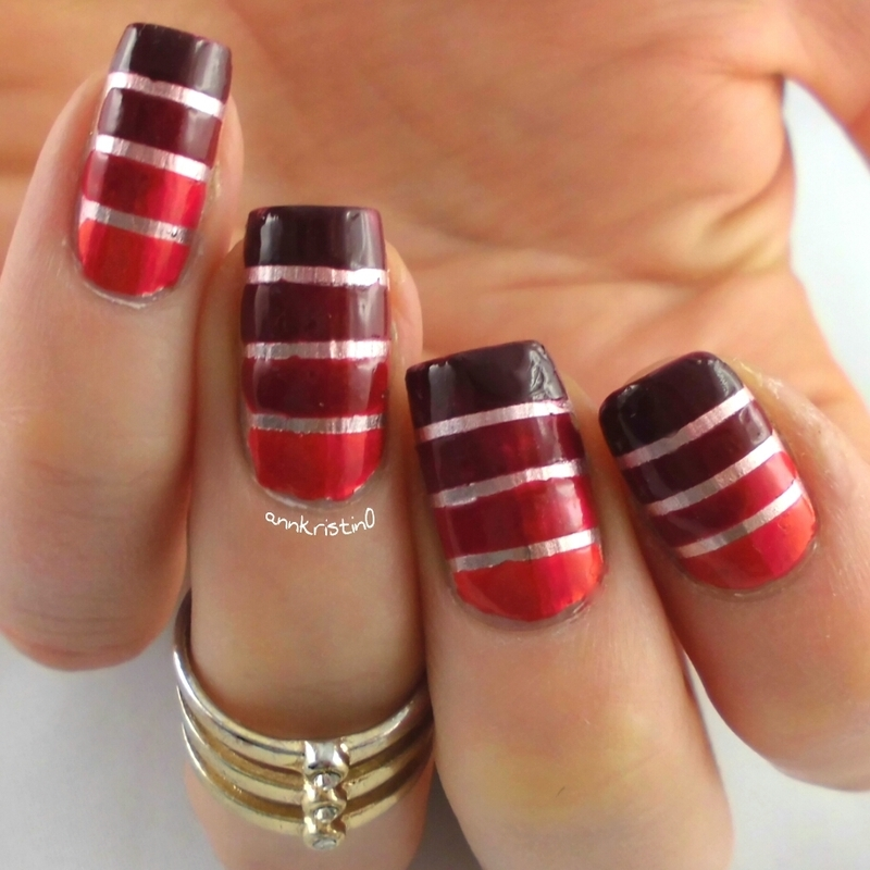 Merry Tape Mani #2 nail art by Ann-Kristin