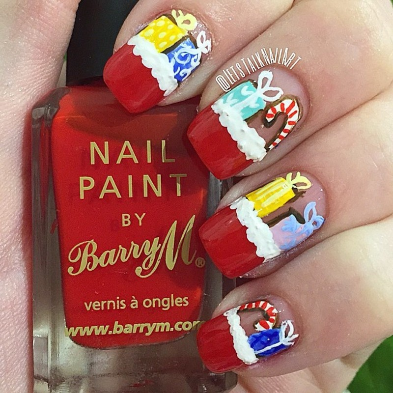 Santa's Presents Sack  nail art by Lottie