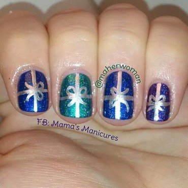 Christmas Gifts nail art by Mama's Manicures (maherwoman)