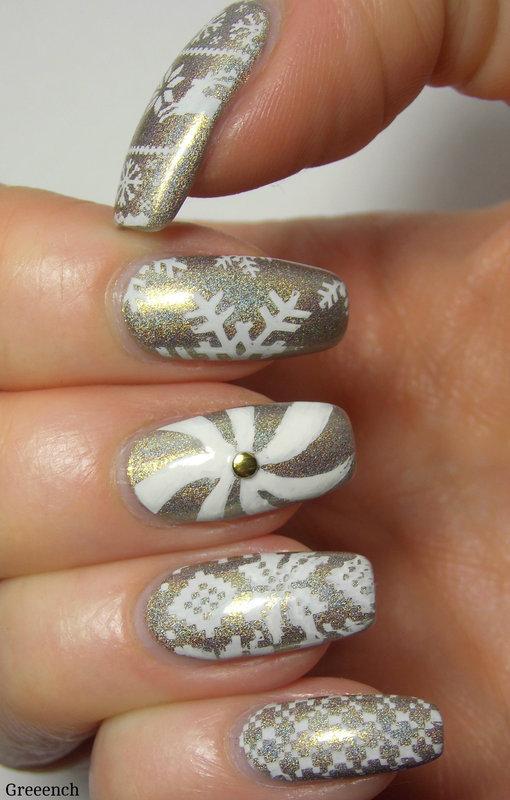 Winter-Xmas-Sweater-Nails nail art by greeench