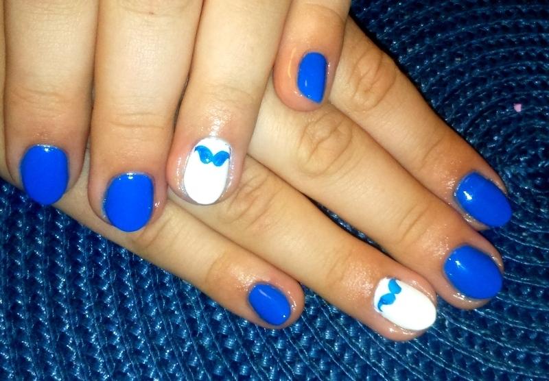 Mustache ;) nail art by Lakierowniczka