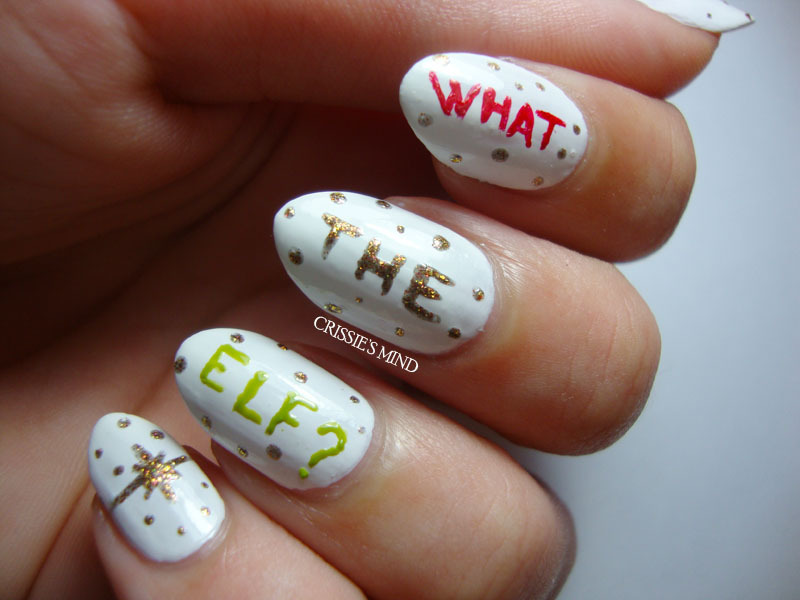 What the elf?! nail art by Christina