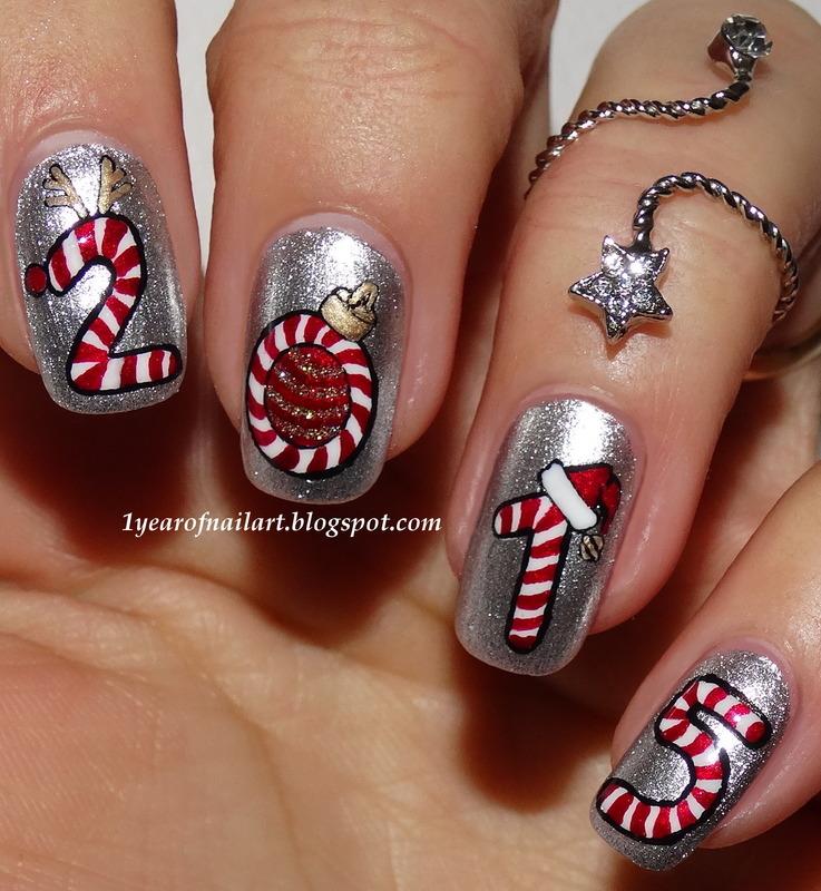 Candy Cane Nail Art Nail Art By Margriet Sijperda Nailpolis