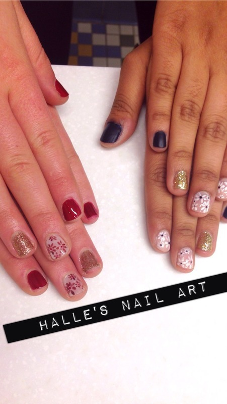 Double the Floral Double the Fun nail art by Halle Butler