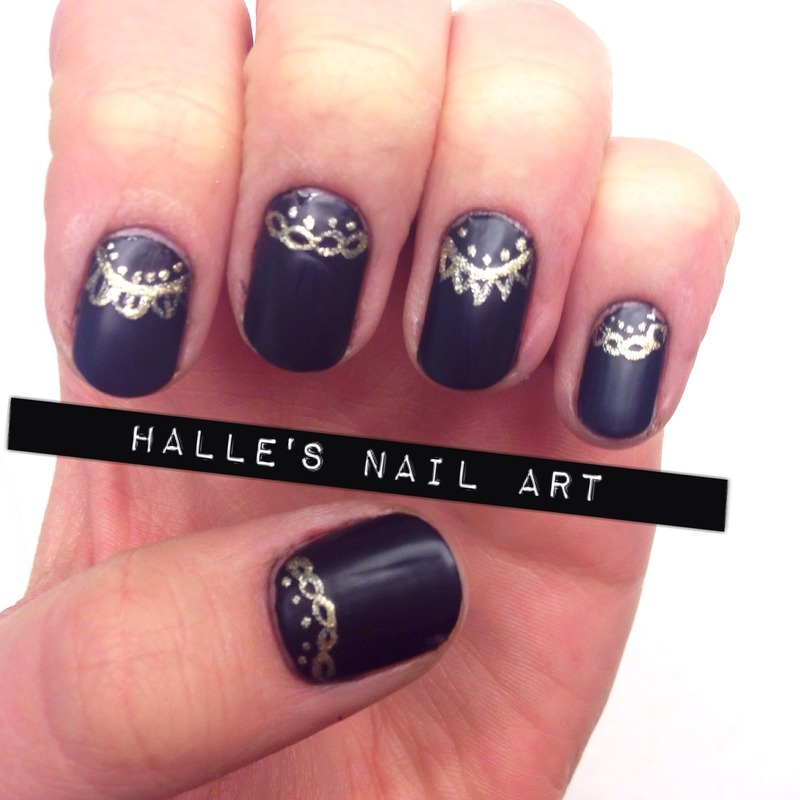 A Perfect Matte nail art by Halle Butler