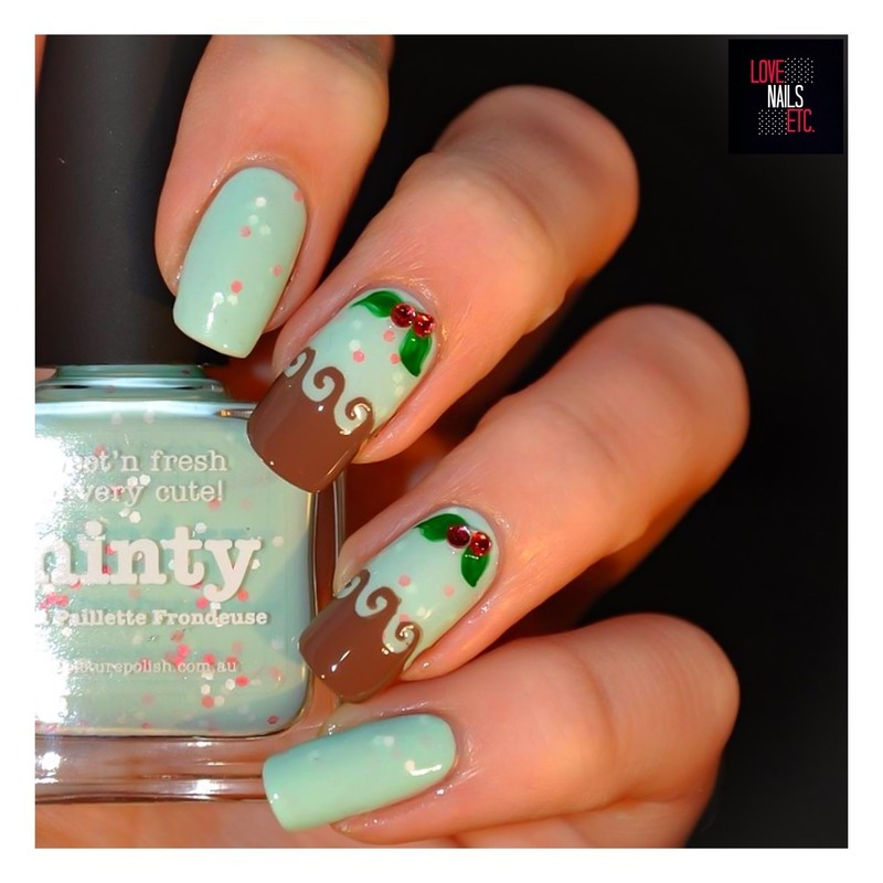 Minty Yummy! nail art by Love Nails Etc