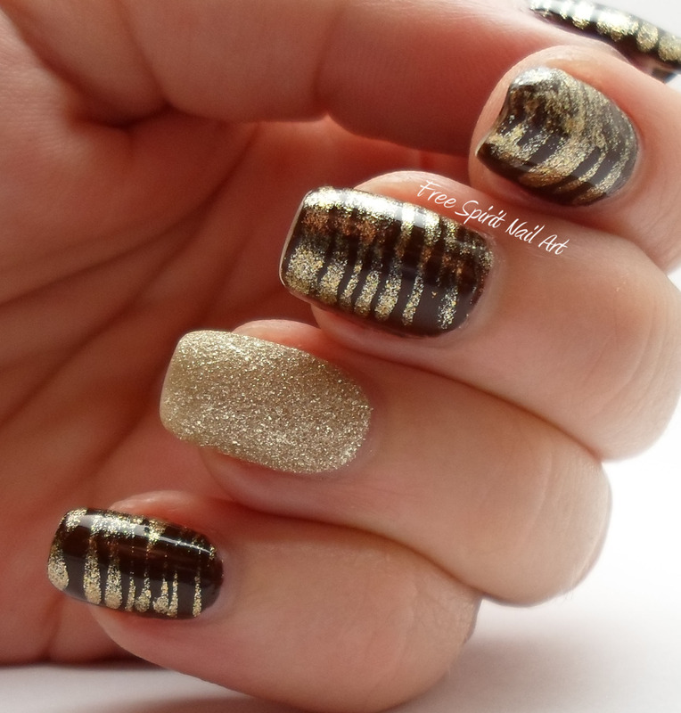 Fan Brush Nail Art  nail art by Free_Spirit_Nail_Art