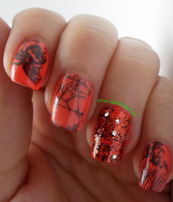 Stamping 2014 Halloween nail art by Free_Spirit_Nail_Art